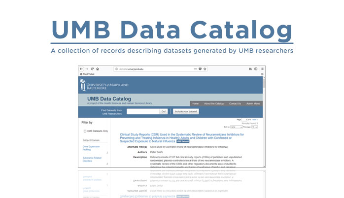 Introducing the UMB Data Catalog