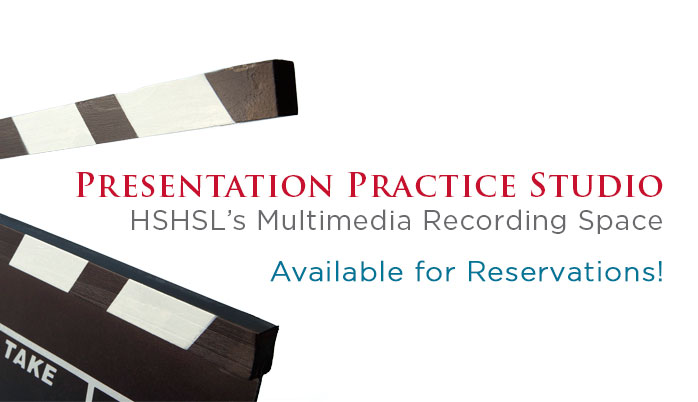 Presentation Practice Studio Available for Reservations