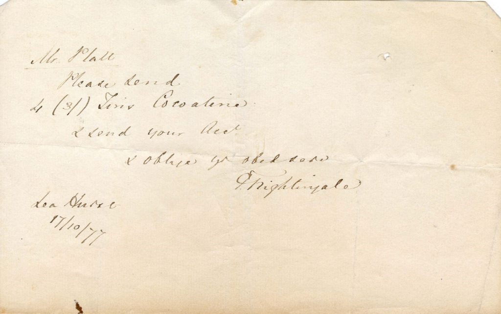 Florence Nightingale Note