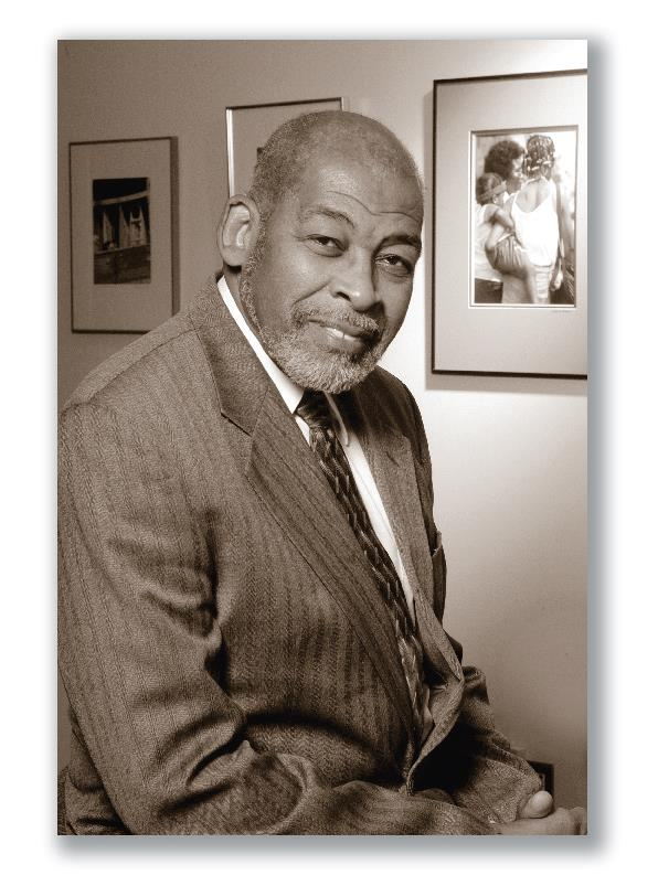 Photograph of Dr. Jesse J. Harris, First African American Dean of the School of Social Work.