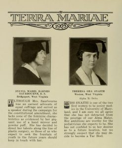 Women of the School of Medicine Class of 1923: Dr. Sylvia Mabel Barnes Saurbourne and Dr. Theresa Ora Snaith
