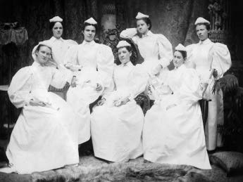 The First Graduating Class of the University Hospital Training School for Nurses, 1892.
