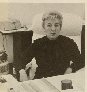 Photograph of Dr. Maureen Henderson, 1972