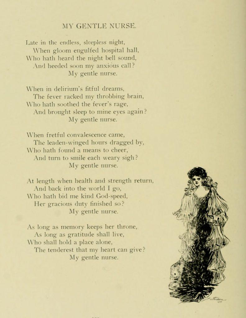 Gentle Nurses Poem from the 1905 Yearbook