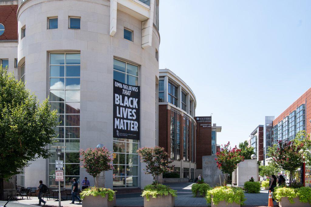 HS/HSL Tower with Black Lives Matter Banner