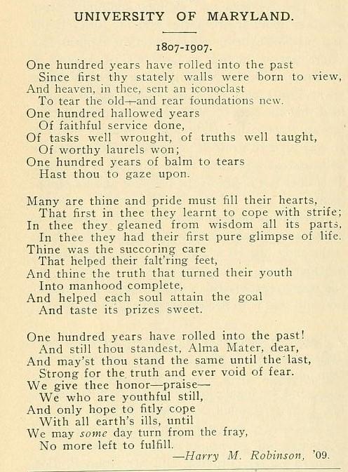 Three stanza typewritten poem
