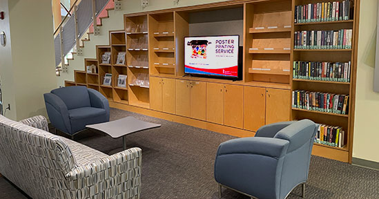 View of the Kinnard Leisure Reading Collection