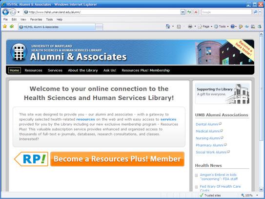 Alumni & Associates with Resources Plus!