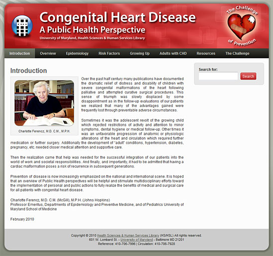 Congenital Heart Disease: A Public Health Perspective