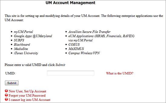 UM Account Management