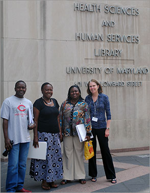 University of Nairobi-College of Heath Sciences Library visited the HS/HSL