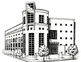 Sketch of  the Library Building